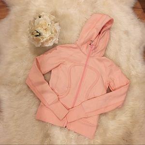 Lululemon Pink Hooded Sweatshirt.
